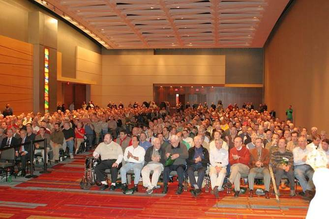Picture of 1st men's conference audience